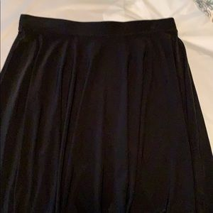 INC Black polyester/spandex skirt.